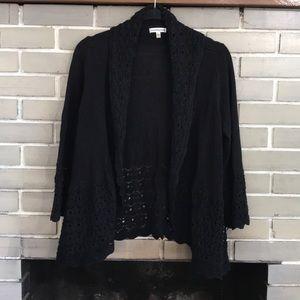 Croft & Barrow 3/4 slv cardigan sweater